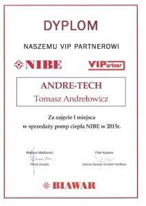 I miejsce w montażu Pomp Ciepła NIBE za rok 2015