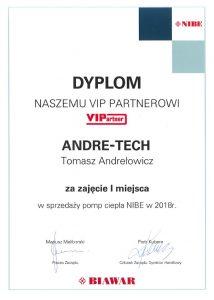 I miejsce w montażu Pomp Ciepła NIBE za rok 2018