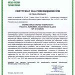 Certyfikat dla Przedsiębiorców FGAZ