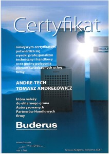 Certyfikat Buderus 2008