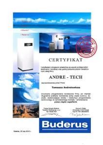 Certyfikat Buderus 2010
