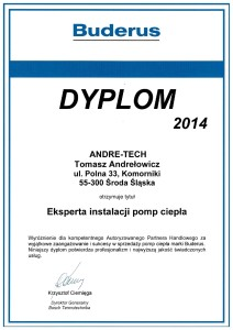 Certyfikat Buderus 2014 II