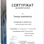 Certyfikat EUCERT 2014