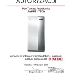 Certyfikat Nibe 2008
