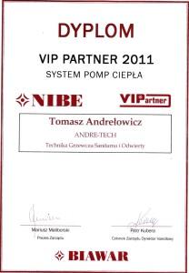 Dyplom VIP Partner 2011